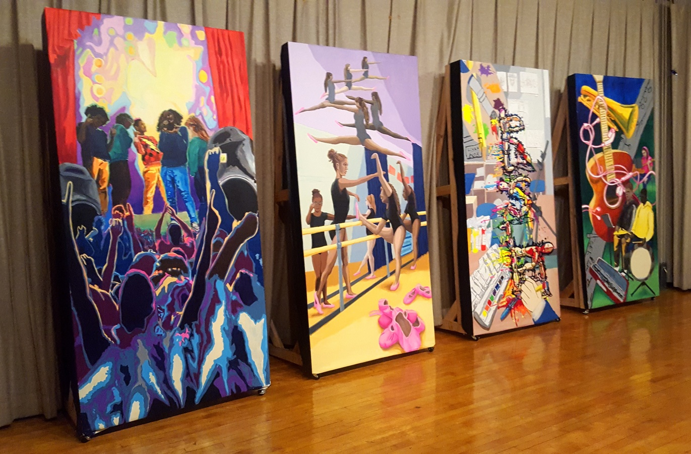 RSA Student Collaborative Paintings