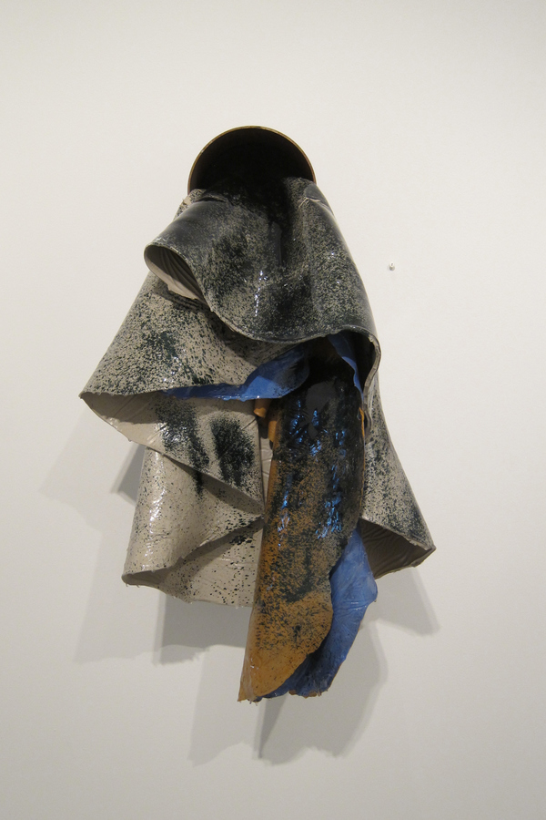 TIFFANY WOLLMAN 2013 Discarded house paint, spray paint in artist constructed and rusted steel pipe