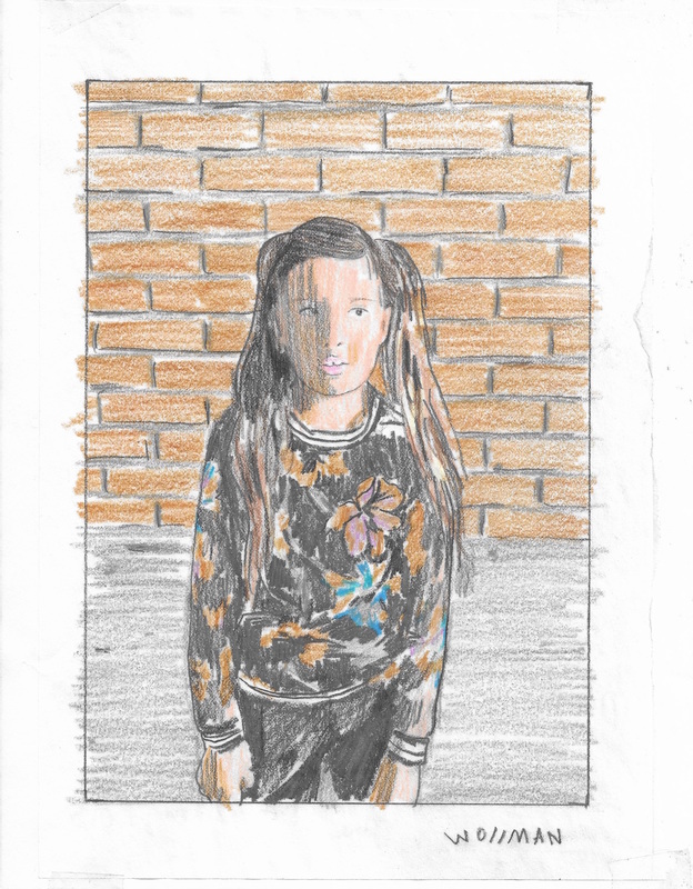 TIFFANY WOLLMAN 2019 Pencil and pencil crayon on paper