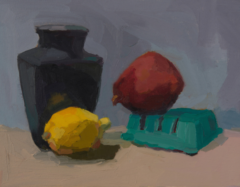 Still Life Red, Yellow, Blue