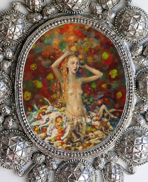 T i m o t h y  H o r n ADAA/ The Art Show: Julie Heffernan & Timothy Horn oil on canvas, nickel-plated bronze