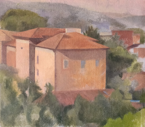 TINA ENGELS Civita, Italy oil on canvas