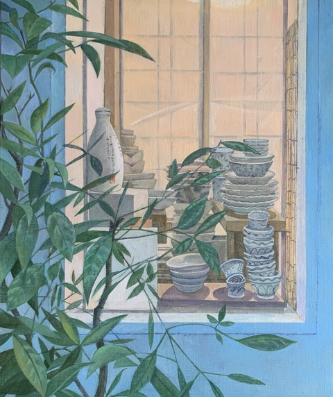 TINA ENGELS Shelves and Spaces Oil on linen