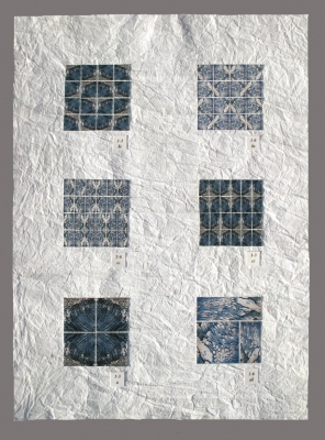 Tina Seligman Variations (2009) digital pigment prints on Hahnemuhle rag, Unryu paper, block printing ink