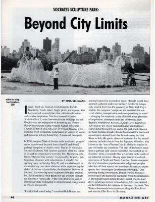 Tina Seligman Beyond City Limits: Socrates Sculpture Park