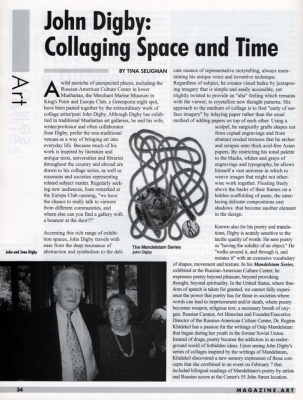 Tina Seligman John Digby: Collaging Space and Time