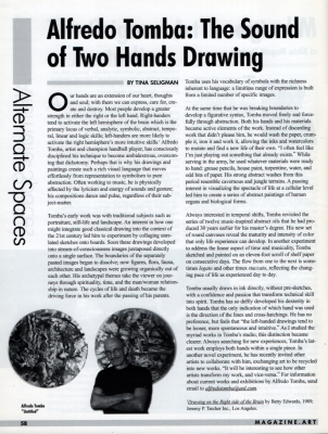 Tina Seligman Al Tomba: The Sound of Two Hands Drawing