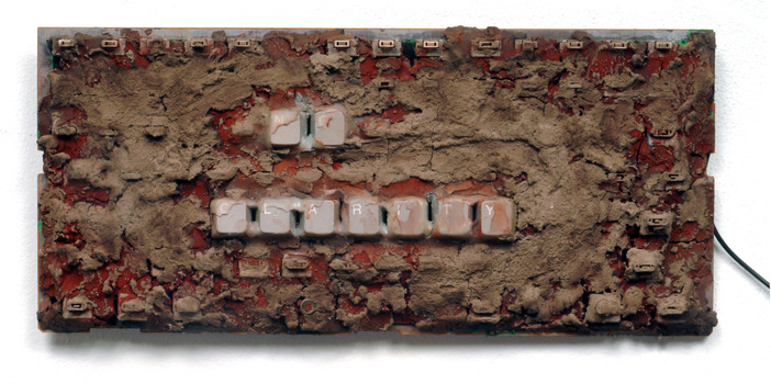 TOBY ZALLMAN Keyboards Clay, dirt and pigment on keyboard