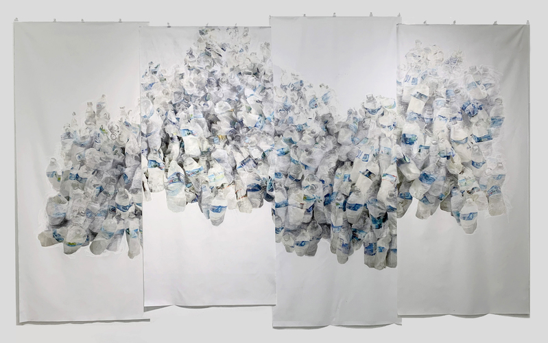 TOBY ZALLMAN Drawings Ink Jet prints and pastel on muslin