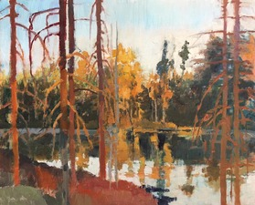 Tom Maakestad Woods and Water Portfolio Oil on Panel