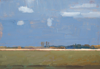 "Tom Maakestad ""Far and Wide"" Exhibition, Groveland Gallery Oil Paint on Linen Board"