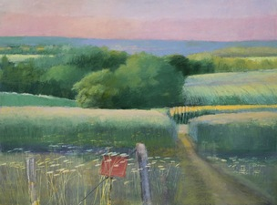 "Tom Maakestad ""Far and Wide"" Exhibition, Groveland Gallery Oil Pastel on Paper"