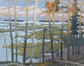 Tom Maakestad Far North Series 	Oil on Panel