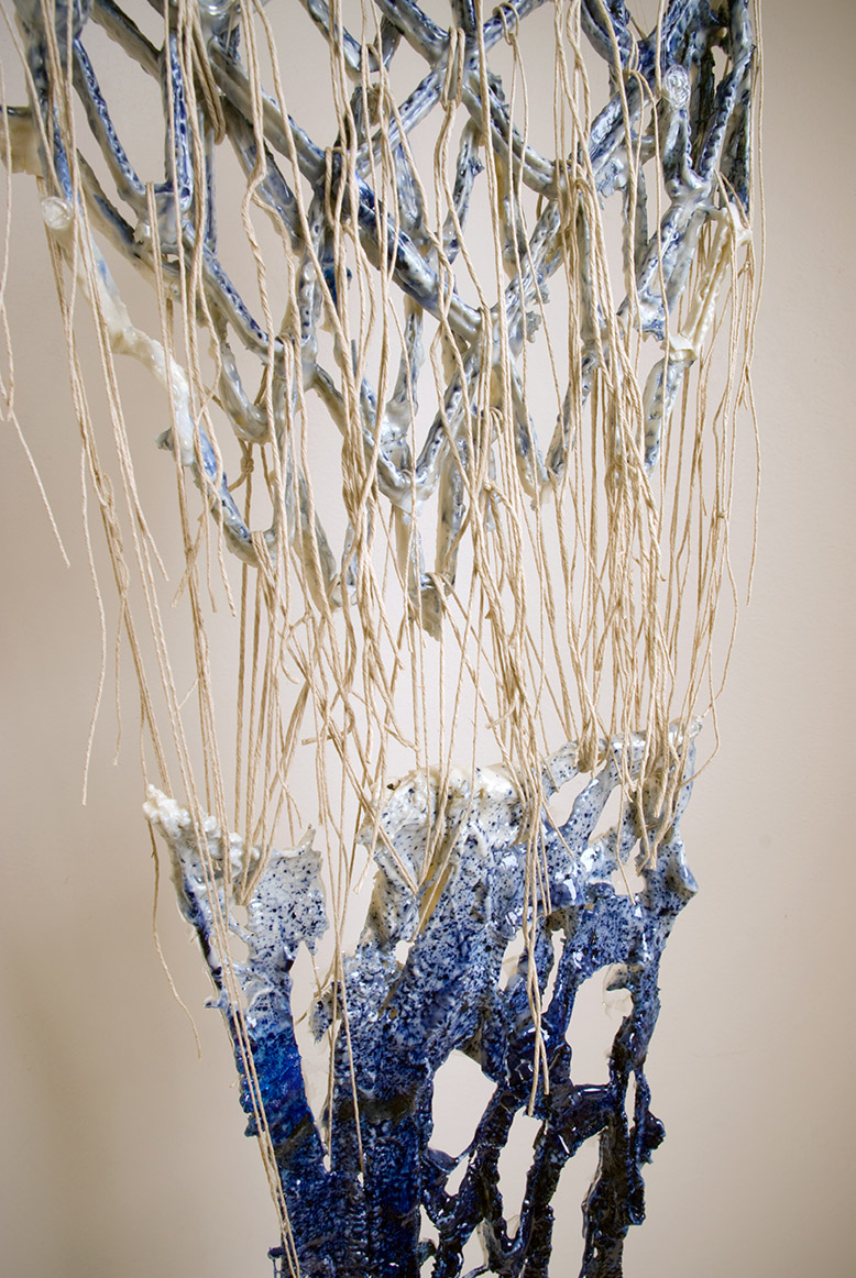 Tomoko Amaki Abe 2014-2015 Porcelain, hemp, resin