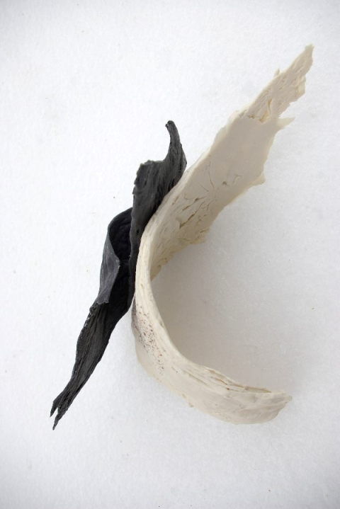 Ceramics black and white fragments