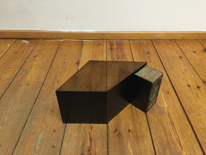 Tongji Philip Qian recent works Sculpture made of plastic etching plate with printed surfaces