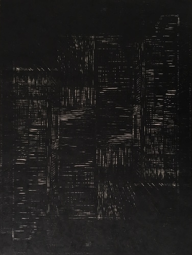Tongji Philip Qian recent works Woodblock print