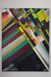 Tongji Philip Qian Chance Paintings Acrylic and relief printmaking ink on canvas