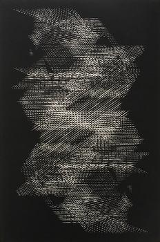 Tongji Philip Qian Chance and Forms 2016 Woodblock print