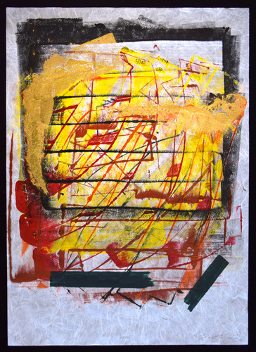 Tongji Philip Qian recent works Monotype with gold leaf