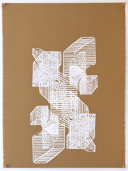 Tongji Philip Qian To Silkscreen print with four wooden push pins