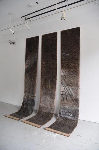 Tongji Philip Qian recent works Charcoal on paper