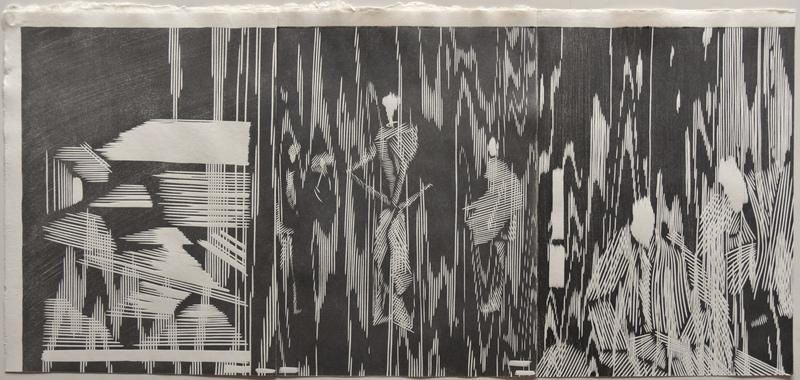 Tongji Philip Qian recent works Woodblock print (mokuhanga)