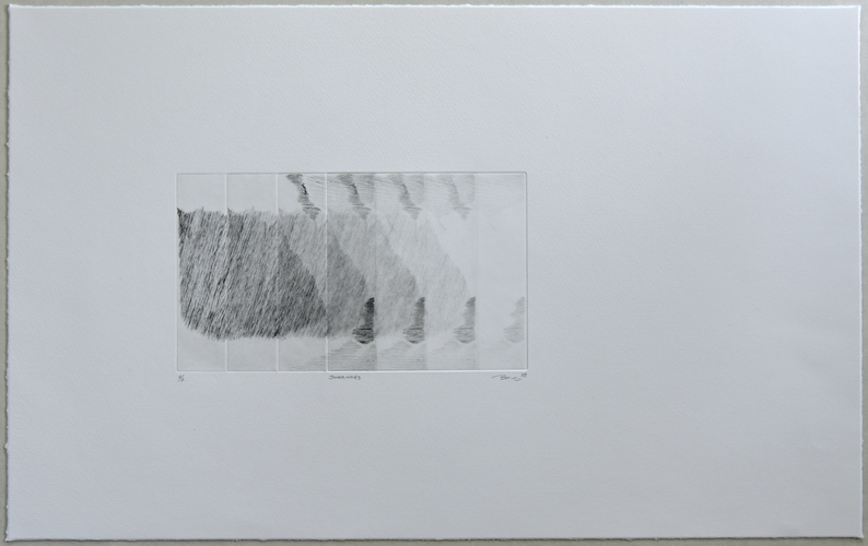 Tongji Philip Qian recent works Etching on paper