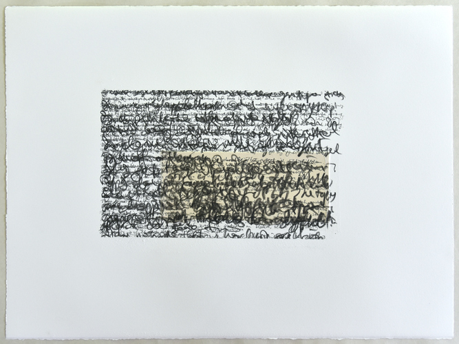 Tongji Philip Qian recent works Grpahite and tape on paper