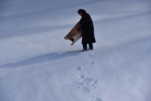 Tongji Philip Qian Ridgeway Not Dainite Vegetable-tanned leather and footsteps on snow