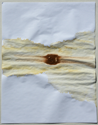 Tongji Philip Qian Miscellaneous Coffee ice cube on paper