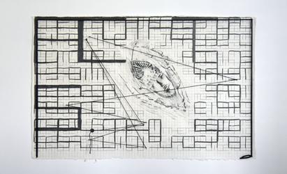 Tongji Philip Qian Miscellaneous Graphite, wool, nails, paper