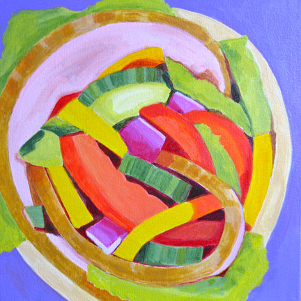 Toni Silber-Delerive Food acrylic on canvas
