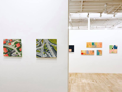 Toni Silber-Delerive Exhibitions Images Flooded Village and Highway Overpass