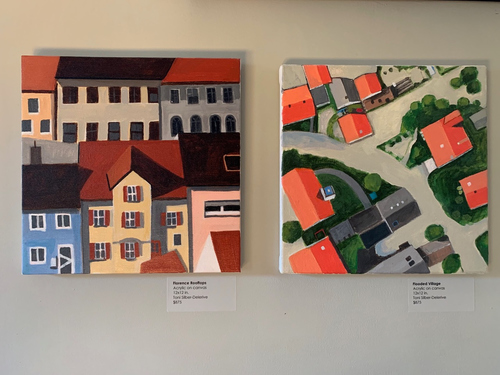Toni Silber-Delerive Exhibitions Images Row Houses in Bavaria, Flooded Village