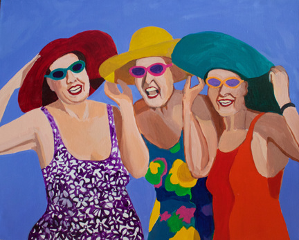 Figurative Women on the Beach SOLD