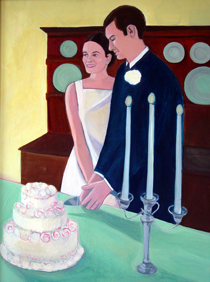 Figurative Cutting the Wedding Cake