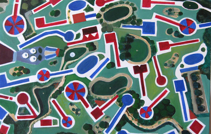 Aerialscapes Miniature Golf Course SOLD