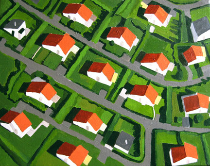 Aerialscapes Red Roofed Tract Housing SOLD