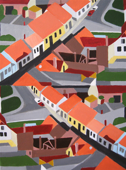 Aerialscapes Colorful Neighborhood SOLD
