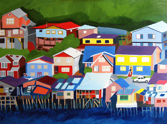 Aerialscapes Chiloe Island. Chile SOLD