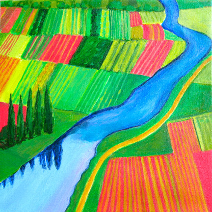 Aerialscapes Cultivated Farmland SOLD