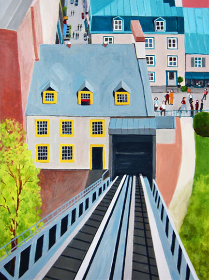 Aerialscapes Funicular, Quebec City SOLD
