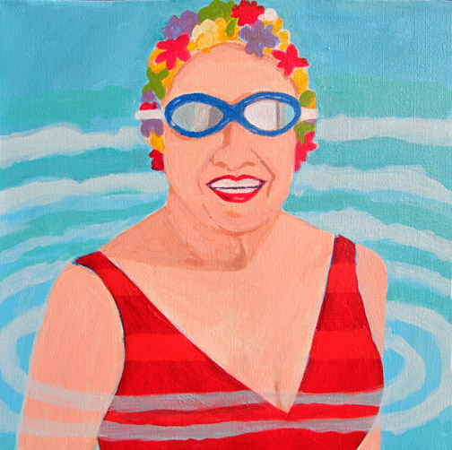 Figurative Women with Goggles