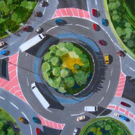 Aerialscapes Traffic Circle SOLD