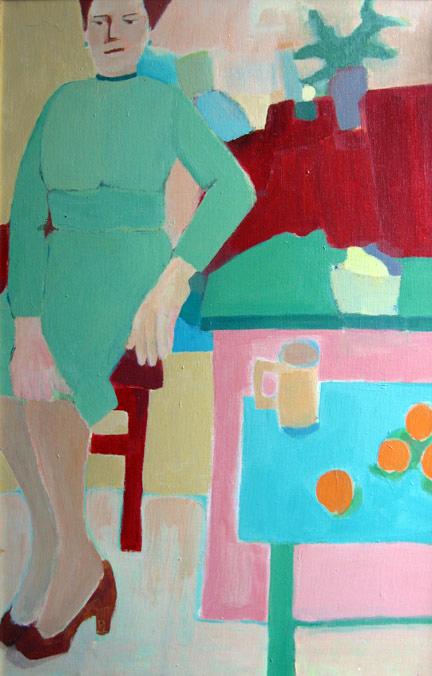 Figurative Eva with still life