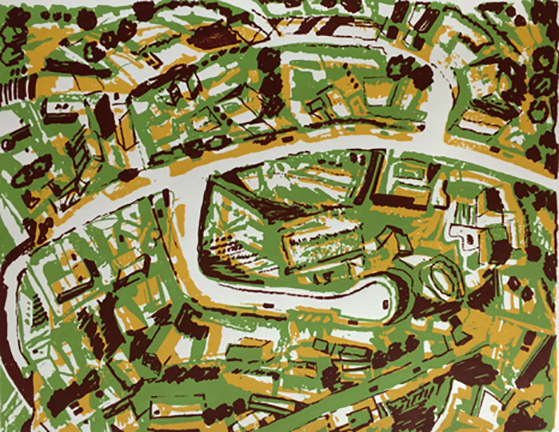 Prints Suburb with Roads