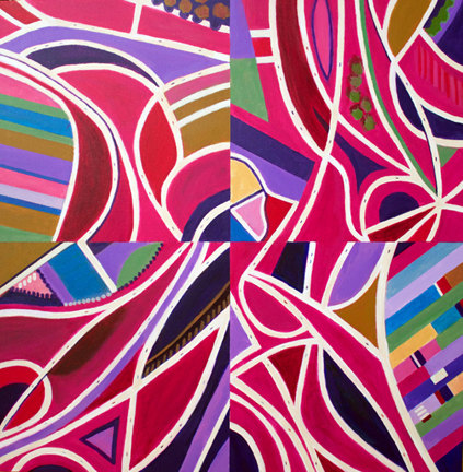 Aerialscapes Magenta Intersections, Quartered
