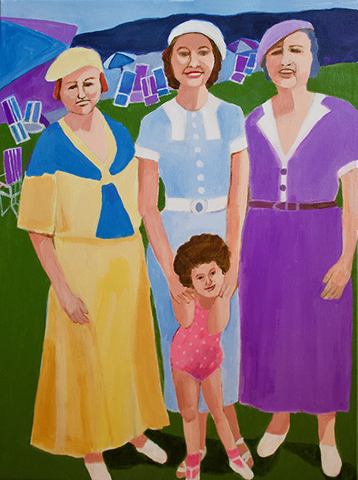 Figurative Young Marilyn & Family SOLD