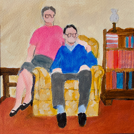 Figurative Couple on a Chair